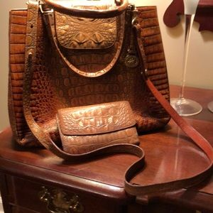 Brahmin Vintage Toasted Almond W/ Matching Wallet
